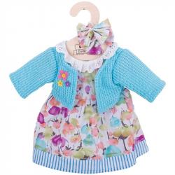Bigjigs Toys tyrkysové šaty so svetrom pre bábiku 35 cm