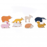 Drewniane figurki Zwierzęta leśne 32011 Bigjigs Toys