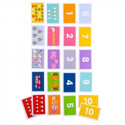 Bigjigs Toys Priraď kartičky 1-10