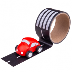 Bigjigs Toys Lepící páska cesta s autíčkem