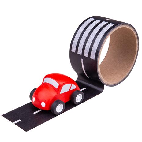 Bigjigs Toys Lepiaca páska cesta s autíčkom