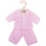Piżama dla lalki różowa w paski