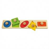 Bigjigs Toys - Vkládací puzzle tvary