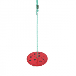 Bigjigs zabawki Swing biedronka drewniany plac zabaw wspinaczka Rama siedziska