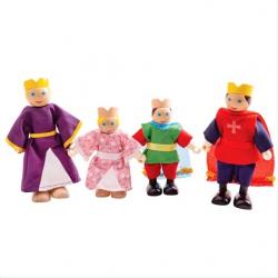 Bigjigs Toys Drevené postavičky kráľovská rodina