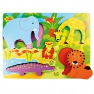 Bigjigs Toys dřevěné vkládací puzzle safari