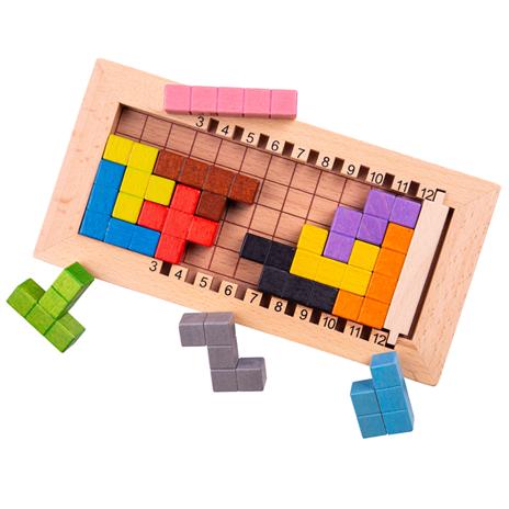 Bigjigs Toys Drevený tetris