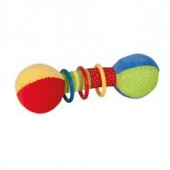Bigjigs Toys textilní aktivní chrastítko