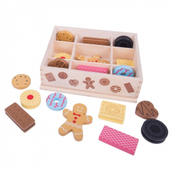 Bigjigs Toys box s drevenými sušienkami