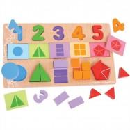 Bigjigs Toys - Moje pierwsze ułamki puzzle - nauka liczenia