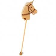 Bigjigs Toys Koń na kiju brązowy