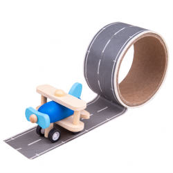 Bigjigs Toys Lepiaca páska runway s lietadlom