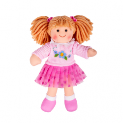 Bigjigs Toys Látková bábika Jasmin 28cm