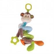 Bigjigs Toys textilní postavička - Spirála opička Cheeky