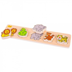 Drevené vkladacie puzzle - Safari