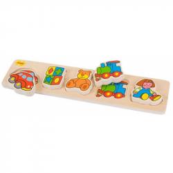Dřevěné vkládací puzzle - Hračky