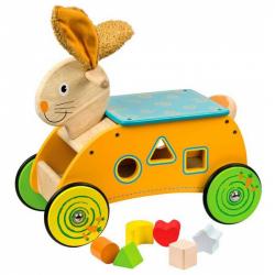 Bigjigs Toys Wesoły królik z sorterem