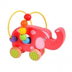 Bigjigs - Słoń na kółkach- pętla motoryczna dla dzieci