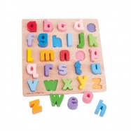 Dřevěná motorická vzdělávací hračka - Abeceda malá písmena