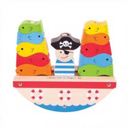 Bigjigs Toys drevená hra - Pirát rybárči