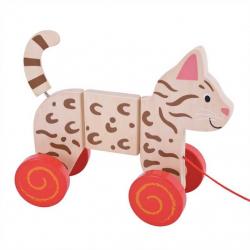 Bigjigs Toys ťahacia hračka - Mačka