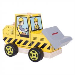 Bigjigs Toys - Sorter buldożer z klocków BB124