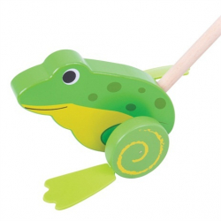 Bigjigs Toys Drevený Jezdík Žabička
