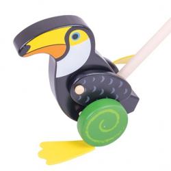Bigjigs Toys Drevený Jezdík Tukan