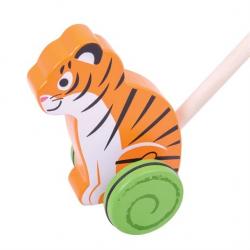 Bigjigs Toys Drevený Jezdík Tygr