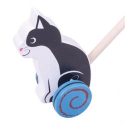 Bigjigs Toys Drevený Jezdík Kočička