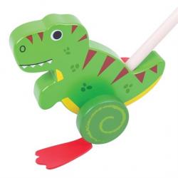 Bigjigs Toys Drevený Jezdík T-Rex