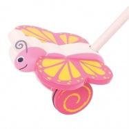 Bigjigs Toys Dřevěný jezdík Motýlek