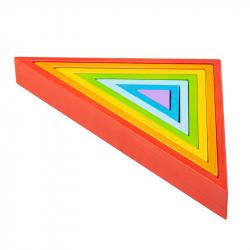 Bigjigs Baby Drevené skladacie trojuholníky