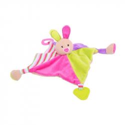 Bigjigs Toys textilné hračka - Zajačik Bella s hryzátkami