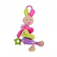 Bigjigs textilná postavička - Špirála králiček Bella