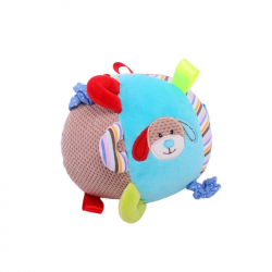 Bigjigs textilná motorická guľa - Psík Bruno