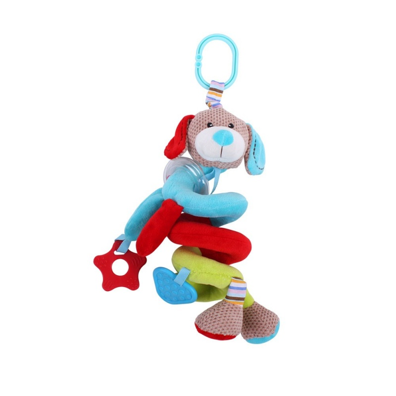 Bigjigs Toys textilní postavička - Spirála pejsek Bruno