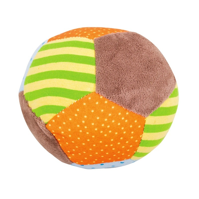 Bigjigs Toys textilní Chrastítko balónek - Opička Cheeky