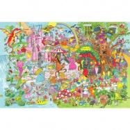 Bigjigs Toys dřevěné hračky - Puzzle fantasyland 96 dílků