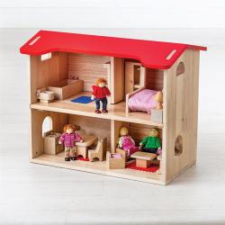 Bigjigs Toys Domček pre bábiky kompletný