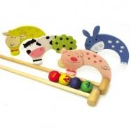 Bigjigs Toys dřevěné hry - kroket se zvířátky