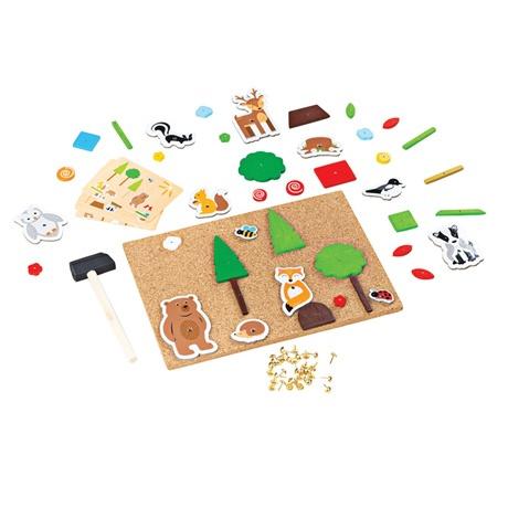 Bigjigs Toys Kreatívne zatĺkacia hra život v lese