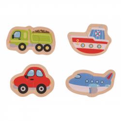 Bigjigs Toys Easy puzzle - Dopravné prostriedky