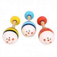 Bigjigs Toys barevné rumbakoule junior zvířátka - 1 pár
