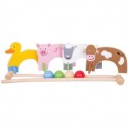 Bigjigs Toys drevené hry - kroket so zvieratkami farma