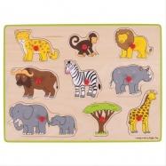 Bigjigs Toys vkladacie puzzle safari