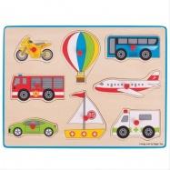 Bigjigs Toys vkladacie puzzle dopravné prostriedky