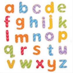 Bigjigs Toys magnetická farebná abeceda (malé písmená)