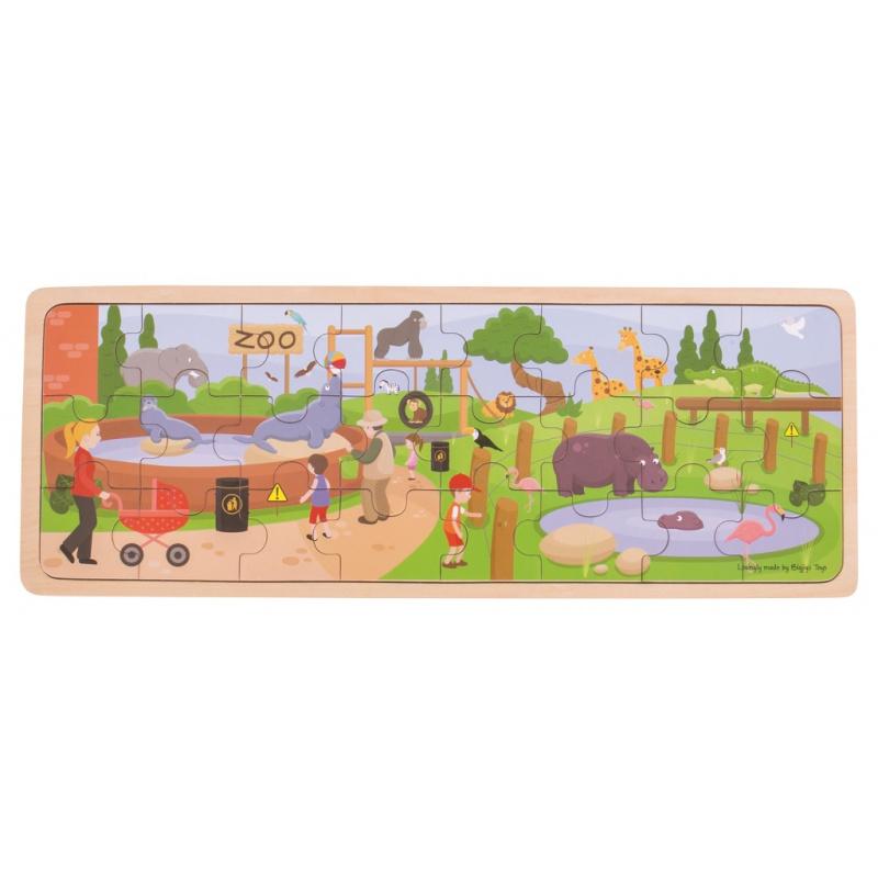 Bigjigs Toys Drevené puzzle ZOO