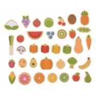 Bigjigs Toys - magnetky ovocie a zelenina